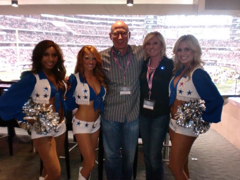 The Sponsorship Guy, Dallas Cowboys Cheerleaders visit guest suite