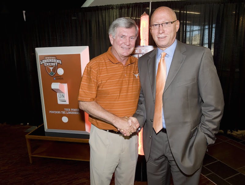 The Sponsorship Guy, With Mac Brown at Texas Longhorn Energy Launch
