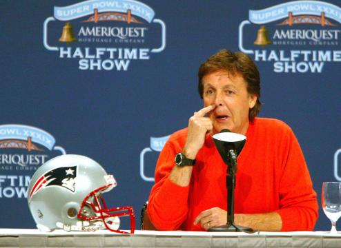 The Sponsorship Guy, Paul McCartney press conference for Super Bowl Half Time show