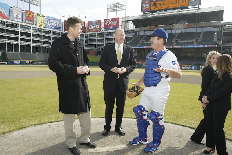 The Sponsorship Guy, Meeting on the Mound at Texas Rangers during client presentation