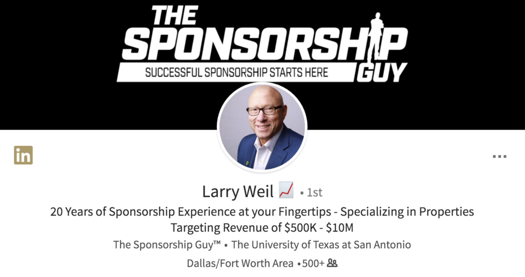 Contact the Sponsorship Guy LinkedIn