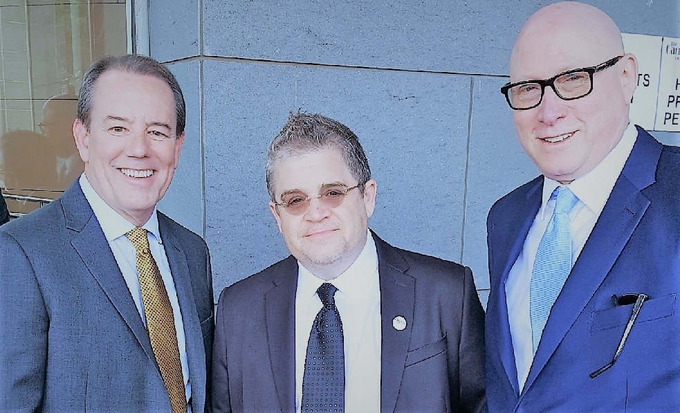 2018 Carney Awards-Larry Weil with Patton Oswalt and Warren Jones