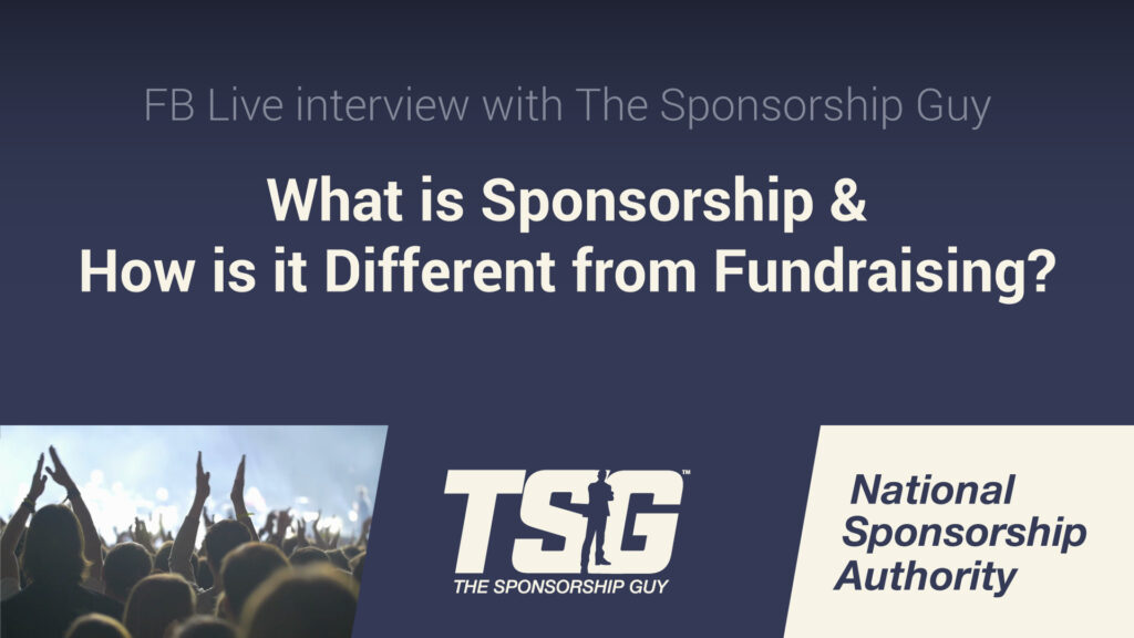 Do you know the difference between sponsorship and fundraising?