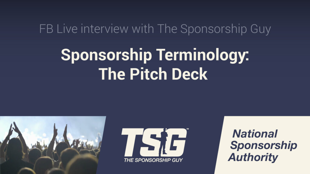 Sponsorship Terminology: The Pitch Deck
