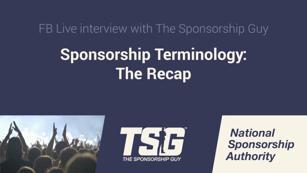 Sponsorship Terminology: The Recap
